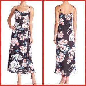Philosophy Gray White Floral Long Maxi Dress 8 M